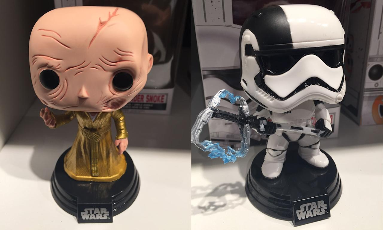 <p>Here's a closer look at Snoke's Funko Pop alongside the new Executioner class Stormtrooper (Yahoo Movies UK/Disney) </p>