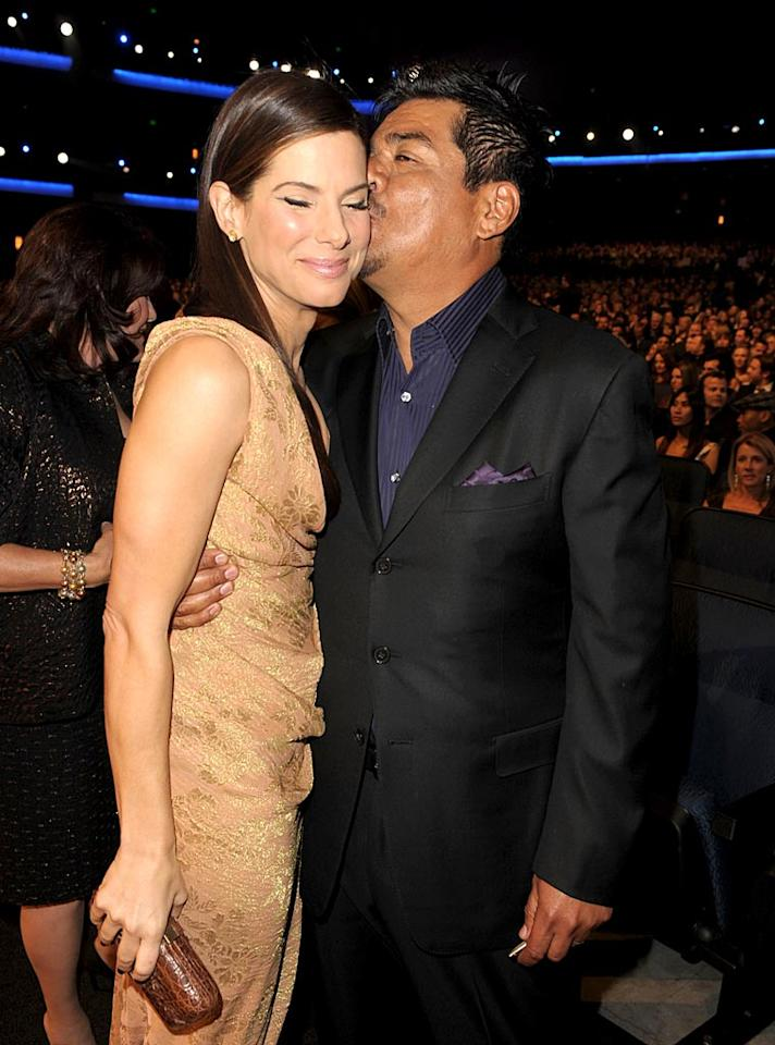 "Oscar winner Sandra Bullock 's BFF George Lopez quickly came to her defense in March when news broke Jesse James had been unfaithful. ""When times are tough, friends step up,"" he said. Kevin Winter/<a href=""http://www.gettyimages.com/"" target=""new"">GettyImages.com</a> - January 6, 2010"