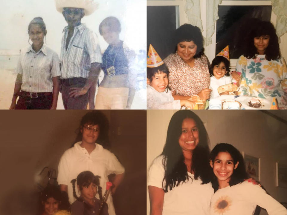 Clockwise from top left: Cilia with friends in Honduras, 1973; the author, right, with her mother and sisters; the author, left, with her sisters; Karina and Jessica. (Photo: Courtesy of Jessica Hoppe)