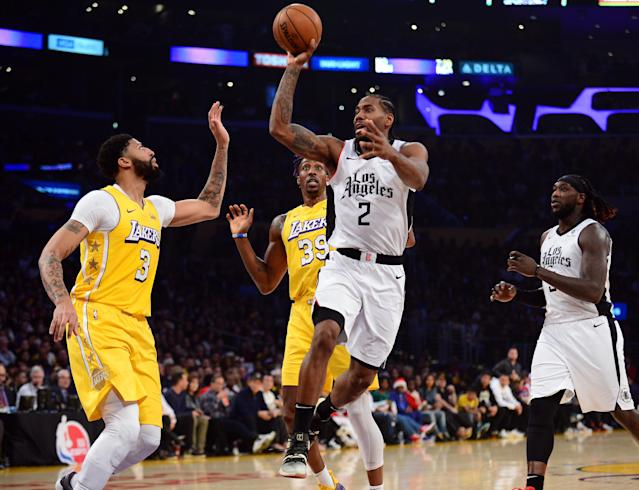 Twice the Lakers threatened to run away with their Christmas day matchup with the Clippers. Kawhi Leonard had other ideas. (Gary A. Vasquez-USA Today Sports)