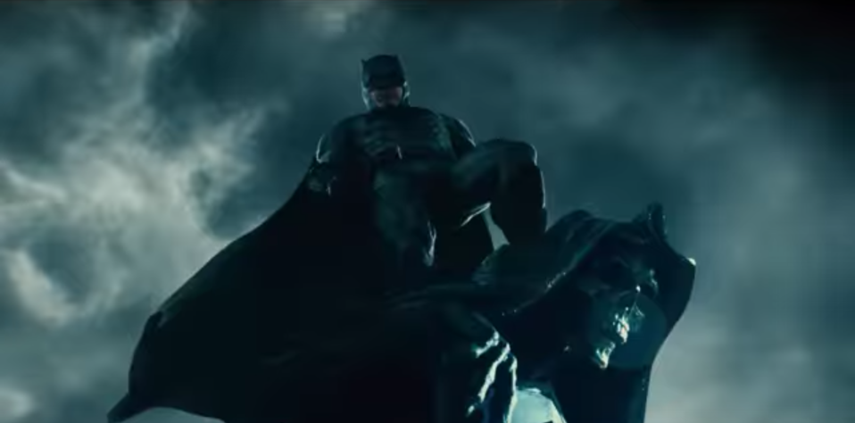 Batman appears in cut footage from the Justice League trailer (credit: Warner Brothers)