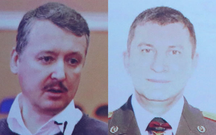 Igor Gurkin, left, and Sergey Dubinskiy, who are both accused of murdering 298 passengers onboard MH17.