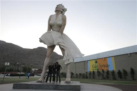 "File photo of the sculpture ""Forever Marilyn"" in Palm Springs, California"