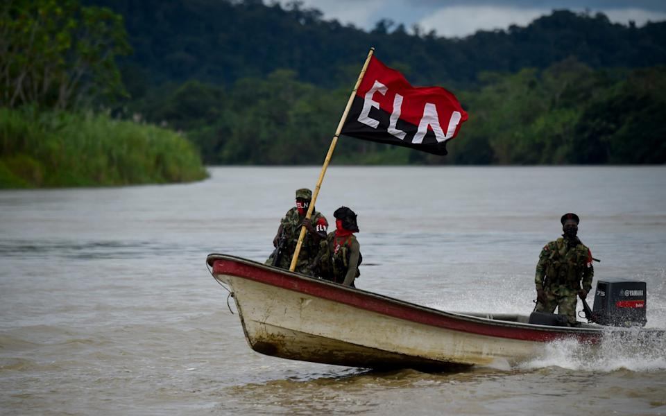 The ELN's stronghold is along the Colombian-Venezuelan border - RAUL ARBOLEDA/AFP/Getty Images