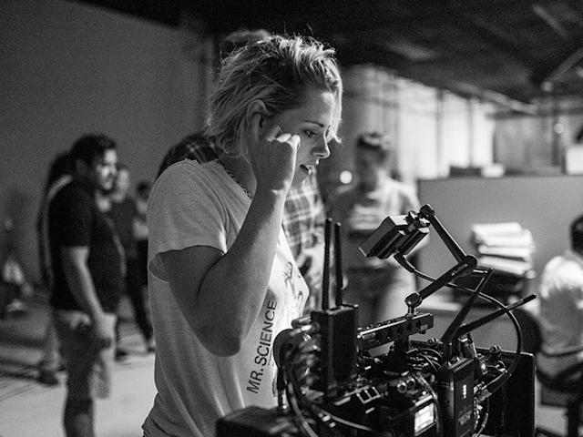 Kristen Stewart on the <em>Come Swim</em> set. (Photo: Lindsey Byrnes/courtesy Everett Collection)