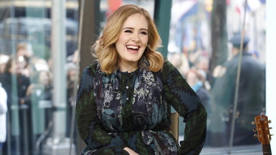 """<p>Being a supportive Brit, Adele has basically worn (with the exception of the Valentino dress she wore on Jimmy Fallon) just U.K.-based brands. For an appearance on the <i>Today Show, </i>the singer wore a chiffon dress from the company's Fall/Winter 2015 collection. She also performed her hit """"Million Years Ago"""" from <i>25</i>. """"It's pretty overwhelming, but it's incredible,"""" she said of the overwhelmingly positive response to her new record. <i>Photo: NBC</i></p>"""
