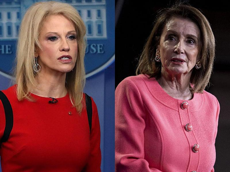 Conway blasts Pelosi, says she dismissed her as 'staff'