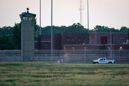 """A corrections vehicle patrols near the Federal Corrections Complex where tomorrow John Walker Lindh, known as the """"American Taliban"""" will be released after the conclusion of his prison sentence in Terre Haute, Indiana, U.S. May 22, 2019. REUTERS/Bryan Woolston"""