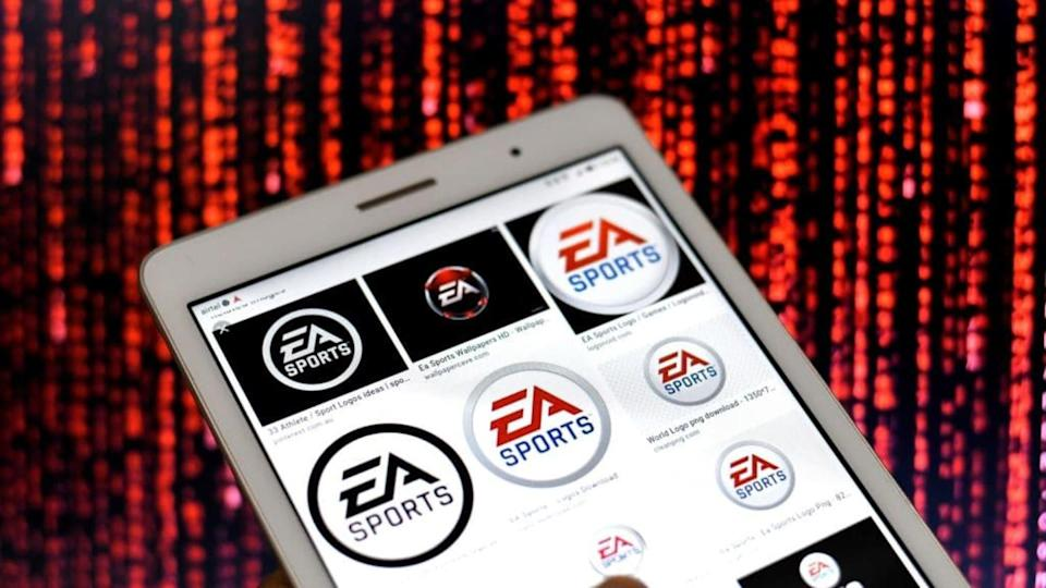 In this Photo illustration the EA Sports Logos seen...   SOPA Images/Getty Images