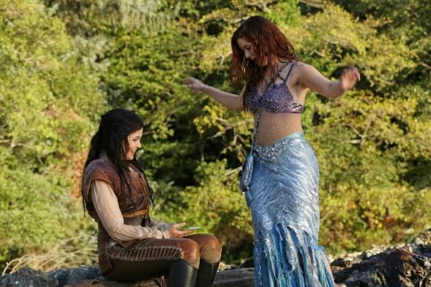 Ginnifer Goodwin as Snow White and Joanna Garcia Swisher as Ariel in 'Once Upon a Time' Season 3 -- ABC