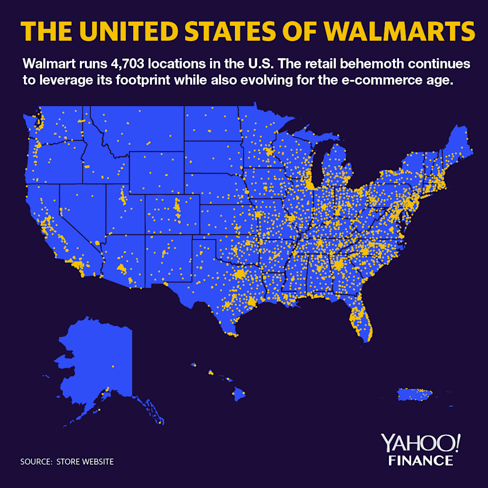 Walmart locations span the United States. (image: David Foster)