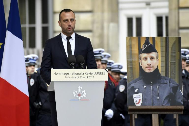 Partner of murdered Paris policeman marries him in posthumous ceremony