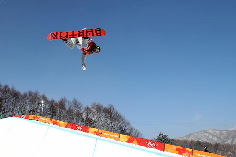 Chloe Kim competes in the halfpipe event on Feb. 13, 2018 at the 2018 Pyeongchang Winter Games. (Tim Clayton - Corbis via Getty Images)