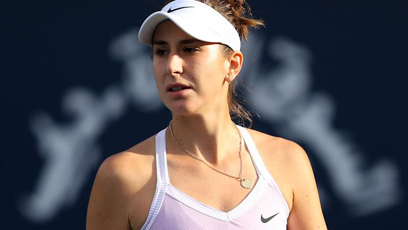 Belinda Bencic, pictured here in action at the Dubai Championships.
