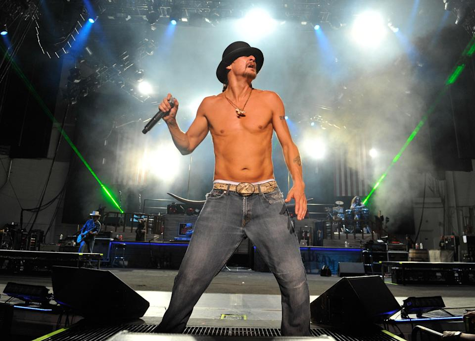 Kid Rock, pictured in 2011, has opened a new bar in Nashville, Kid Rock's Big Ass Honky Tonk Rock N' Roll Steakhouse, with a seemingly fitting big a** sign. (Photo: Getty Images)