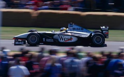 goodwood festival of speed 1999- nick heidfeld - mclaren MP4/14 - Credit: Paul Hulbert