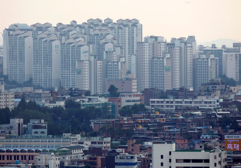 FILE PHOTO: Houses are seen in Seoul