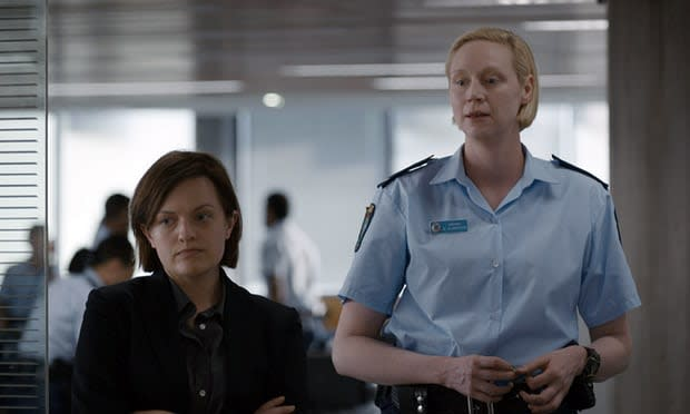 "Elisabeth Moss and Gwendoline Christie in ""Top of the Lake: China Girl."" (Photo: SundanceTV)"