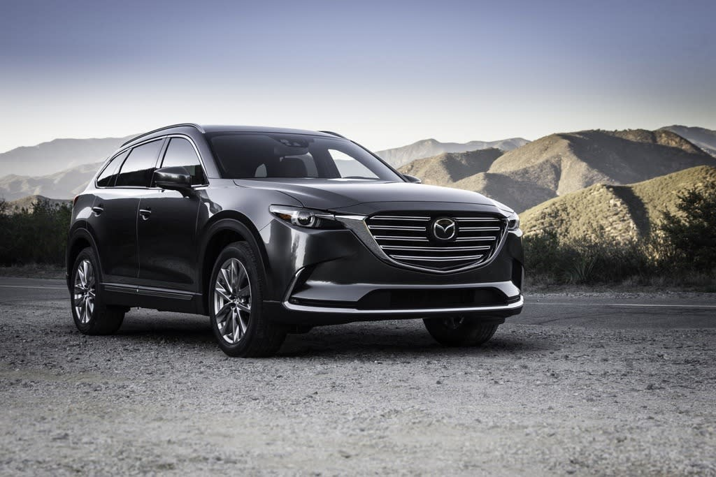 <p>Mazda today unveiled its new, second generation CX-9 three-row crossover SUV</p>
