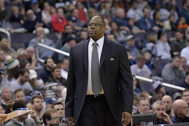 Patrick Ewing's Georgetown team squandered a late lead against Syracuse. (AP)