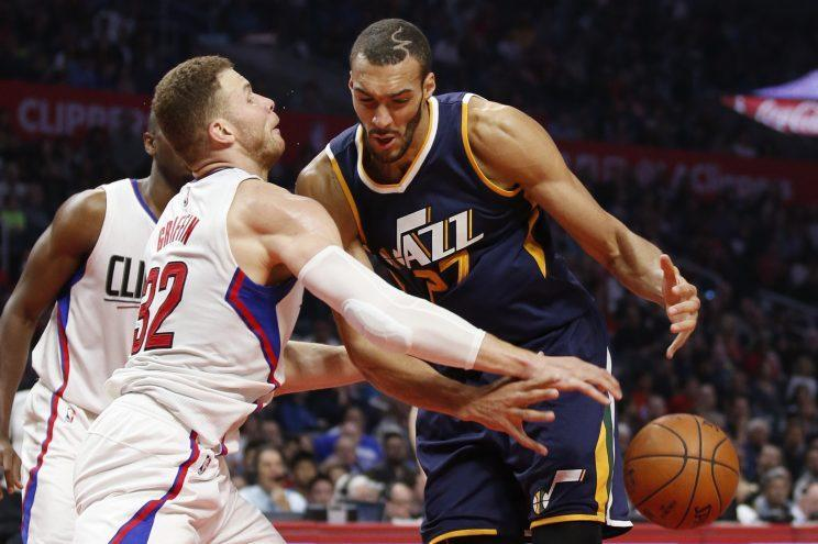 Rudy Gobert's Jazz are now just a half-game ahead of the Clippers in the West. (AP)