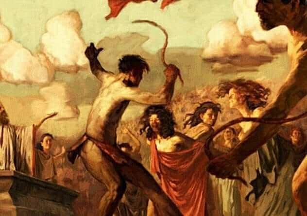 Romans whipping their women and calling it 'good luck'