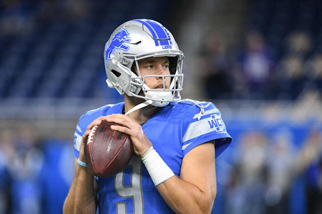 Matthew Stafford confirmed that he knew on Saturday that he wouldn't start, but wasn't ruled out to dress until Sunday. (Tim Fuller/USA Today)