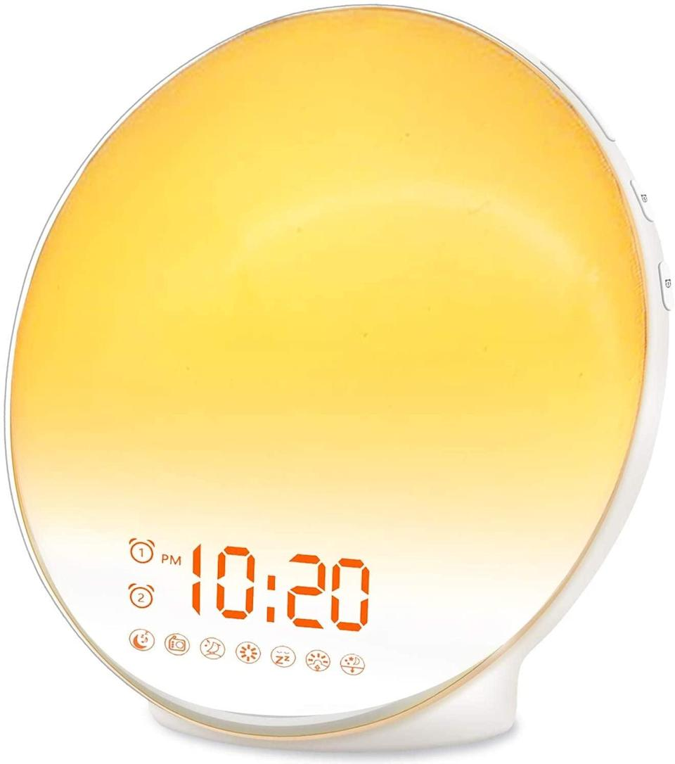 <p>Get your sleep schedule on track with the <span>Wake Up Light Sunrise Alarm Clock</span> ($40). It has a sunrise simulation, it doubles as a reading lamp, and it even has FM radio.</p>