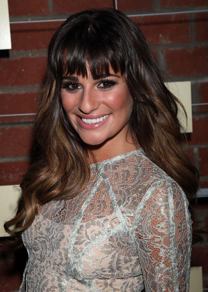 """Lea Michele (""""Glee"""") attends Fox's Fall 2012 Eco-Casino party at The Bookbindery on September 10, 2012 in Culver City, California."""