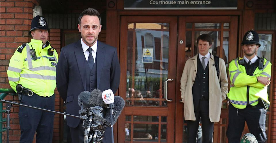 """<p>Ant McPartlin shocked the nation this year when he entered rehab for substance abuse and shortly after caused a three car crash after driving under the influence. The television presenter, famous for being one-half of Ant & Dec, <a rel=""""nofollow"""" href=""""https://uk.news.yahoo.com/ant-mcpartlin-pleads-guilty-drink-drive-arrest-130322234.html"""" data-ylk=""""slk:pleaded guilty to drink-driving in April;outcm:mb_qualified_link;_E:mb_qualified_link;ct:story;"""" class=""""link rapid-noclick-resp yahoo-link"""">pleaded guilty to drink-driving in April</a> and was forced to pay a £83,000 fine and undergo a 20 month driving ban. </p>"""