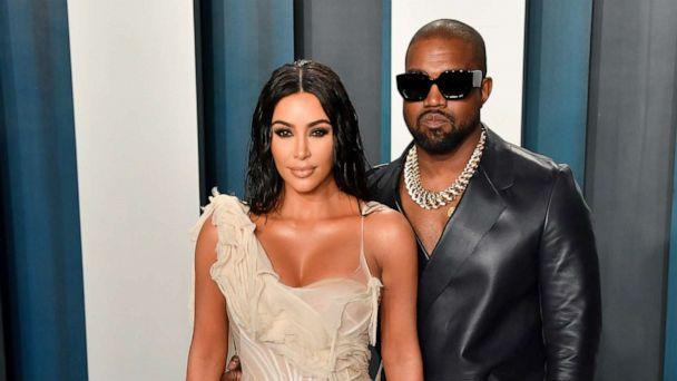 PHOTO: Kim Kardashian West and Kanye West arrive at the 2020 Vanity Fair Oscar Party hosted by Radhika Jones at Wallis Annenberg Center on Feb. 9, 2020 in Beverly Hills, Calif. (Allen Berezovsky/Getty Images, FILE)