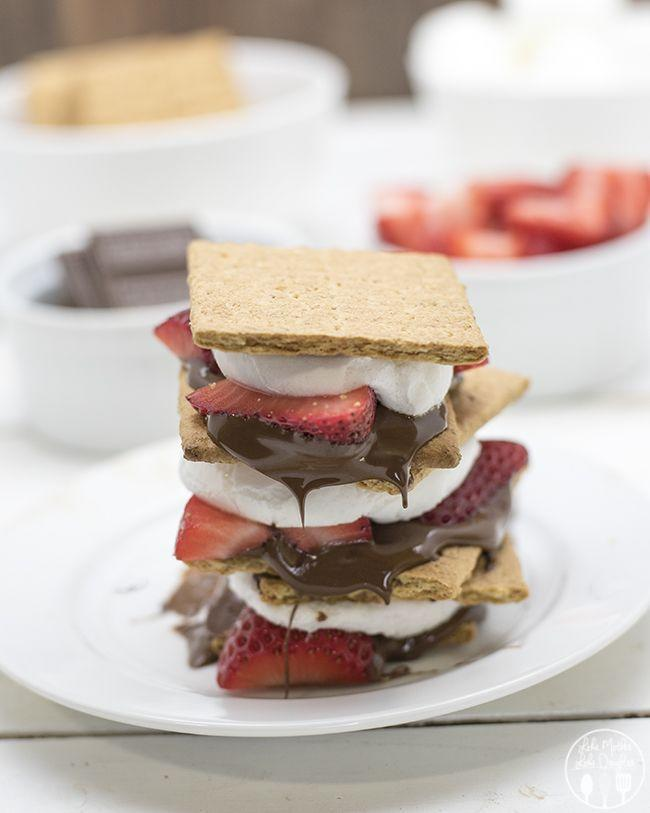 "<p>Fresh berries give your s'mores some juicy sweetness.</p><p>Get the recipe from <a href=""http://lmld.org/2015/05/22/chocolate-covered-strawberry-smores/"" rel=""nofollow noopener"" target=""_blank"" data-ylk=""slk:Like Mother, Like Daughter"" class=""link rapid-noclick-resp"">Like Mother, Like Daughter</a>.</p>"