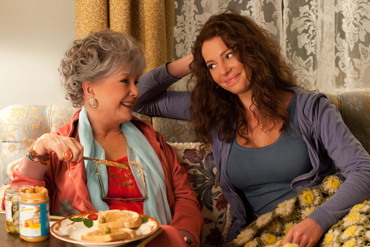 """Debbie Reynolds and Katherine Heigl in Lionsgate's """"<a href=""""http://movies.yahoo.com/movie/one-for-the-money/"""">One for the Money</a>"""" - 2012"""