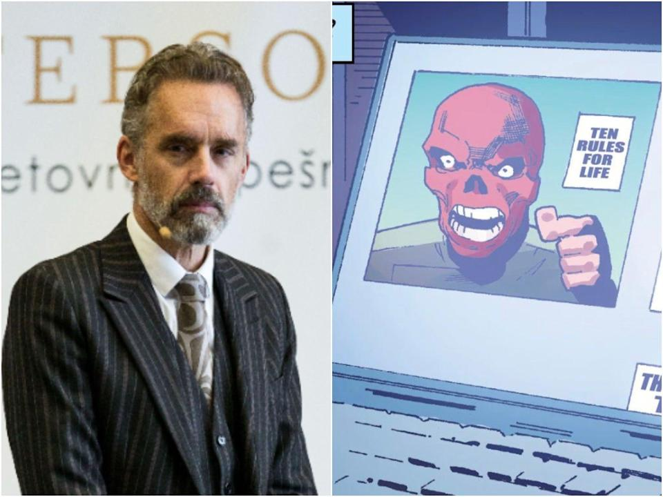 Peterson's fans believe the '10 rules for life' comment was a nod to the psychologist's 12 Rules for Life (Shutterstock/Marvel)