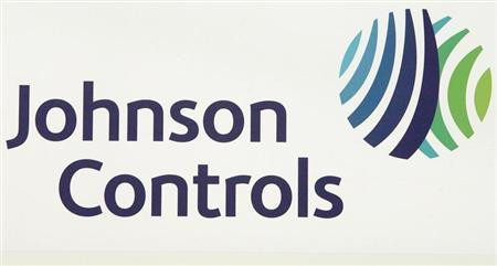 The logo of the U.S. Johnson Controls company is seen in Nersac, southwestern France