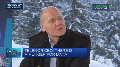 """Telenor CEO Sigve Brekke speaks about the importance of data and his company's """"digital transformation agenda."""""""