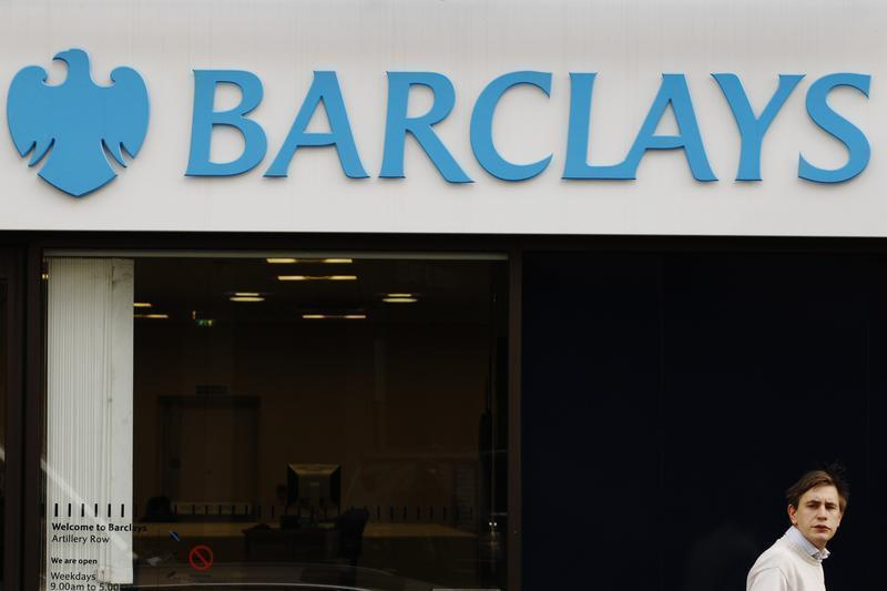 Signage for Barclays bank in London