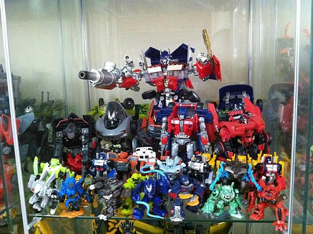 "A collection of some of hardcore fan Marcus Goh's autobot figurines from ""Transformers: Revenge of the Fallen"". (Photo courtesy of Marcus Goh)"