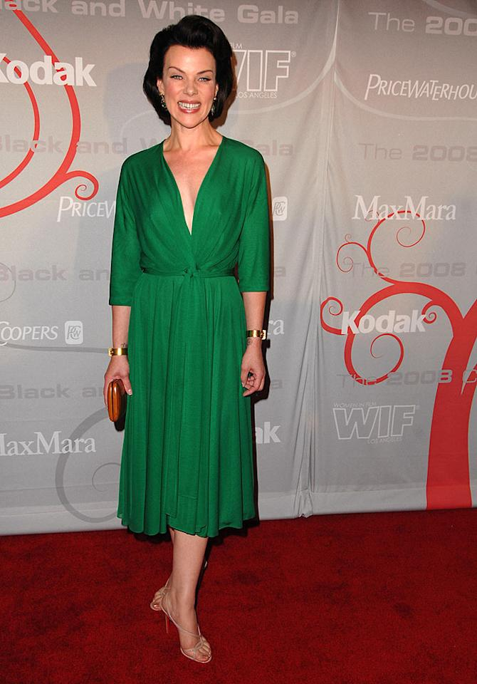 """Entourage's"" Debi Mazar brought a splash of color in a brilliant green dress. Steve Granitz/<a href=""http://www.wireimage.com"" target=""new"">WireImage.com</a> - June 17, 2008"