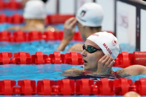 Canada's Kylie Masse is going for her second medal of the Games tonight, in the women's 200m backstroke. (Tom Pennington/Getty Images - image credit)