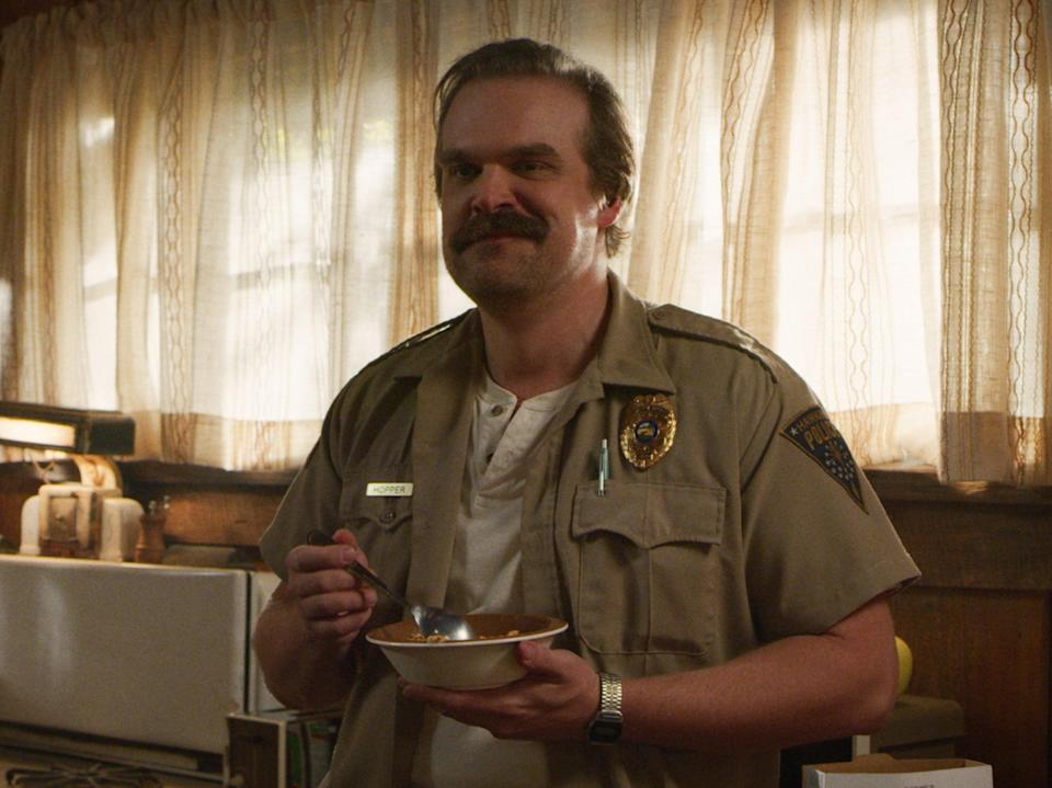 David Harbour in 'Stranger Things' (Courtesy of Netflix)