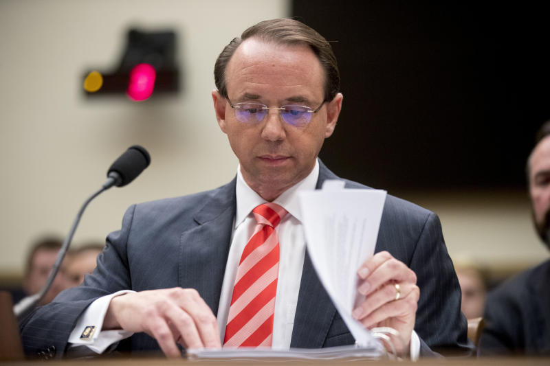 House Republicans file articles of impeachment against Rod Rosenstein