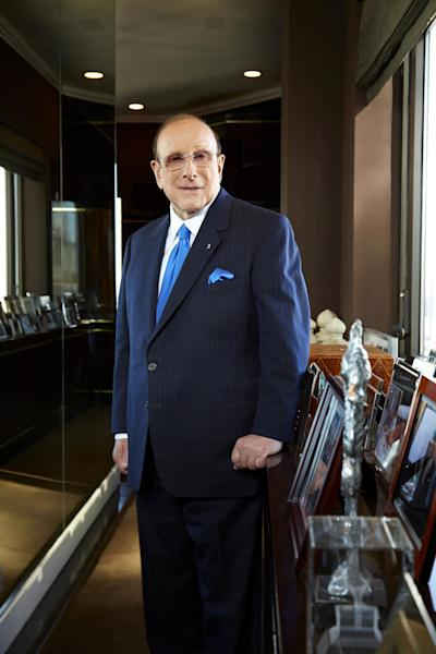 "This Feb. 18, 2013 photo shows Sony Music Entertainment's Chief Creative Officer and famous hitmaker Clive Davis posing for a portrait in New York. Davis' autobiography, ""The Soundtrack of My Life"" . The 551-page book features behind-the-scene stories of Davis' work with top acts from Bruce Springsteen to Aretha Franklin to Whitney Houston. (Photo by Dan Hallman/Invision/AP)"