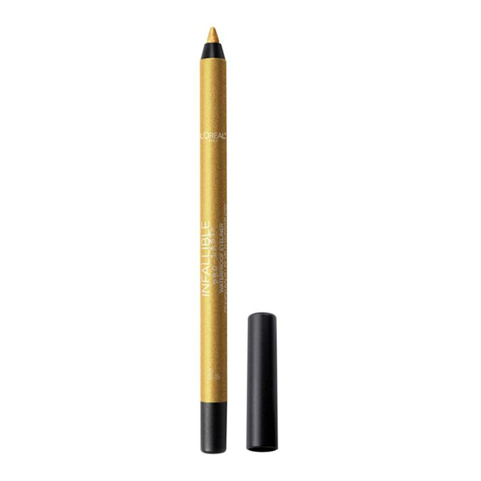 """We're not sure what strenuous activities require 24-hour waterproof long wear, but L'Oréal Paris fills the need with the creamy Pro-Last Waterproof 24HR Pencil Eyeliner. Smudge one of the six available vibrant hues along the lower lash line paired with a bright matte shadow in the inner corner and some <a href=""""https://www.allure.com/gallery/best-false-eyelashes?mbid=synd_yahoo_rss"""" rel=""""nofollow noopener"""" target=""""_blank"""" data-ylk=""""slk:lashes"""" class=""""link rapid-noclick-resp"""">lashes</a> for a quick but simple colorful look."""