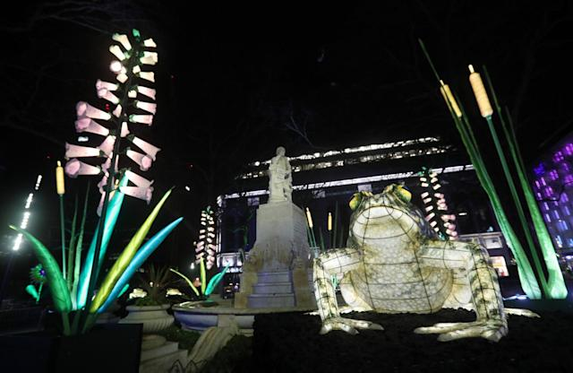 Culture on the streets: the Lumiere Festival in London: PA