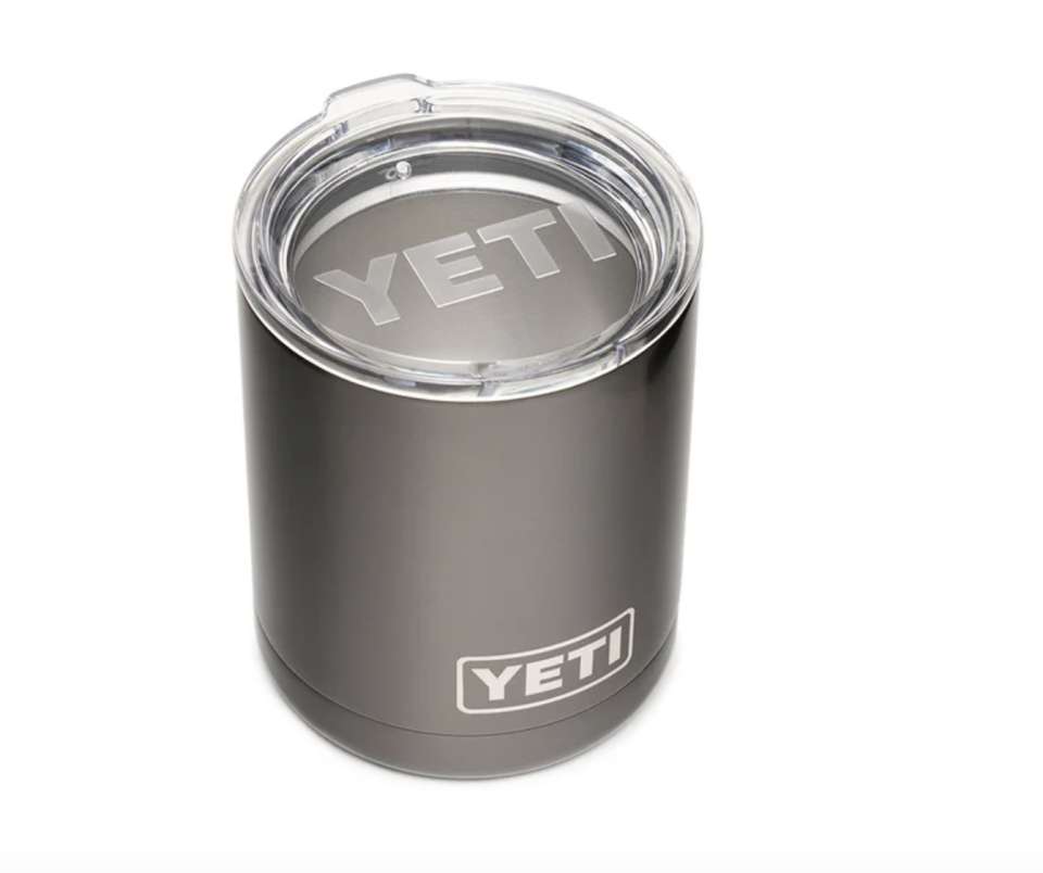 "<p><strong>YETI</strong></p><p>yeti.com</p><p><strong>$14.99</strong></p><p><a href=""https://go.redirectingat.com?id=74968X1596630&url=https%3A%2F%2Fwww.yeti.com%2Fen_US%2Fdrinkware%2Frambler-10-oz-lowball%2F21071300057.html&sref=https%3A%2F%2Fwww.delish.com%2Ffood-news%2Fg35269879%2Fyeti-tumbler-cup-sale-january-2021%2F"" rel=""nofollow noopener"" target=""_blank"" data-ylk=""slk:BUY NOW"" class=""link rapid-noclick-resp"">BUY NOW</a></p><p>While the Lowball Rambler comes with a standard lid, it also fits with other lids in Yeti's wheelhouse so you can customize your drinking experience. </p>"