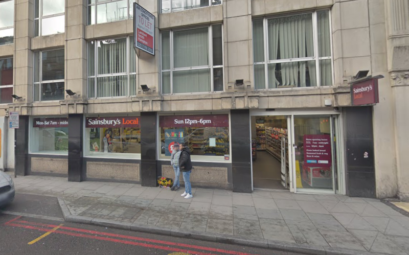 The incident took place outside Sainbury's on Borough High Street. (Google)