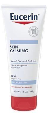 "<strong><a href=""https://www.amazon.com/Eucerin-Calming-Natural-Oatmeal-Enriched/dp/B000YGDRIW"" target=""_blank"">Eucerin skin calming creme</a>, $6.55</strong>"
