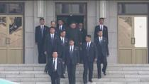 North Korean leader Kim Jong Un arrives for the inter-Korean summit at the truce village of Panmunjom, in this still frame taken from video, South Korea April 27, 2018. Host Broadcaster via REUTERS TV