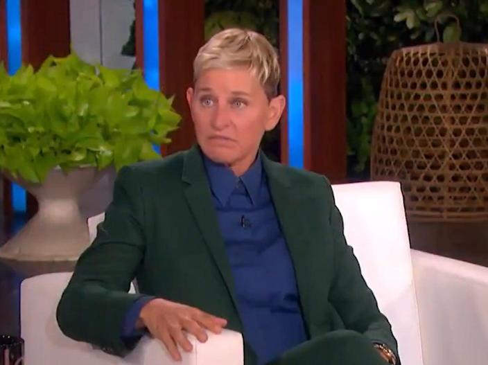 Ellen DeGeneres appearing on Today, following the news that her talk show is coming to an end (NBC)